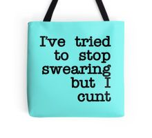 """Tired to Swearing but I Cunt "" Throw Pillows by topdesignparty 