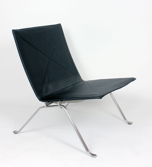 Poul Kjaerholm PK22 Leather Lounge Chair Replica   Black Leather Mid  Century Modern Danish Lounge Chair. 40 best Mid Century Living Room images on Pinterest