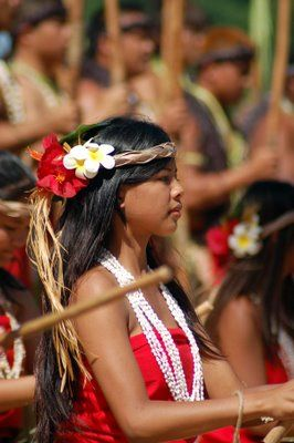 Beautiful Chamorro girl, indigenous people of the Northern Marianas.