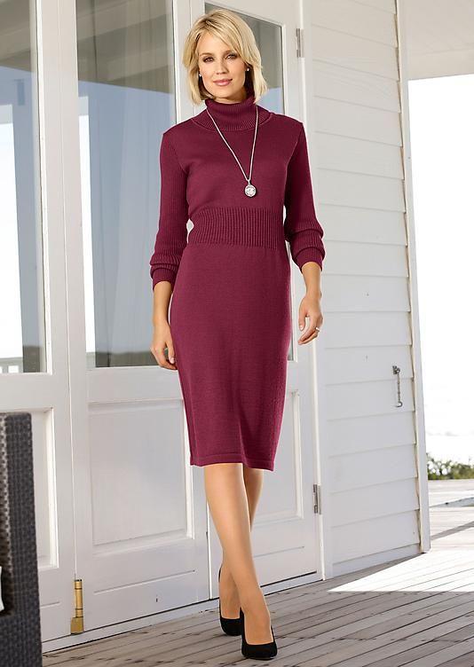 robe en tricot rouge fonc atelier gabrielle seillance femme l gante sorties pinterest. Black Bedroom Furniture Sets. Home Design Ideas