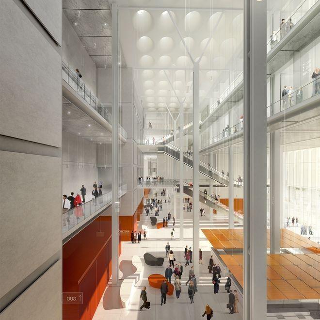 Top départ pour le Palais de Justice de Paris de Renzo Piano ! Christiane Taubira, garde des Sceaux, ministre de la Justice, et Anne Hidalgo, Maire de Paris, ont posé la première pierre.