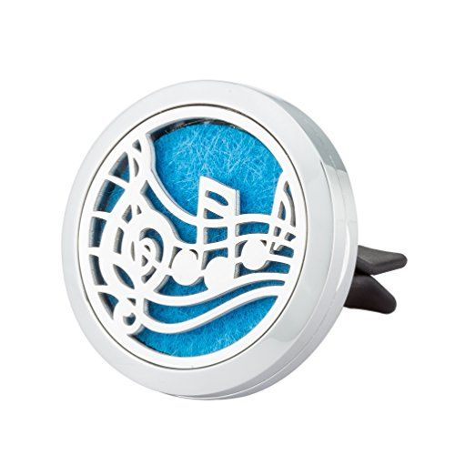 Jenia Office&Car Perfume Essential Oil Diffuser Locket With Vent Clip Aromatherapy Stainless Steel 30mm #Jenia #Office&Car #Perfume #Essential #Diffuser #Locket #With #Vent #Clip #Aromatherapy #Stainless #Steel