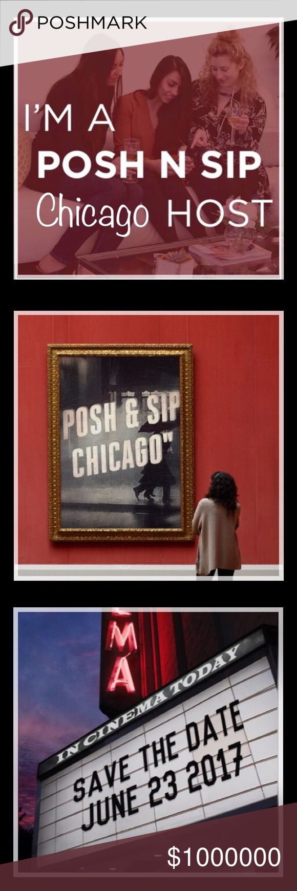 💖Friday June 23, 2017 @ 7pm💖 Yay! 🎈🎉🛍🎀 I'm co-hosting a Posh N Sip in the Greater Chicago area!!! Please save the date! Friday June 23, 2017 at 7pm. Location details to follow. Other
