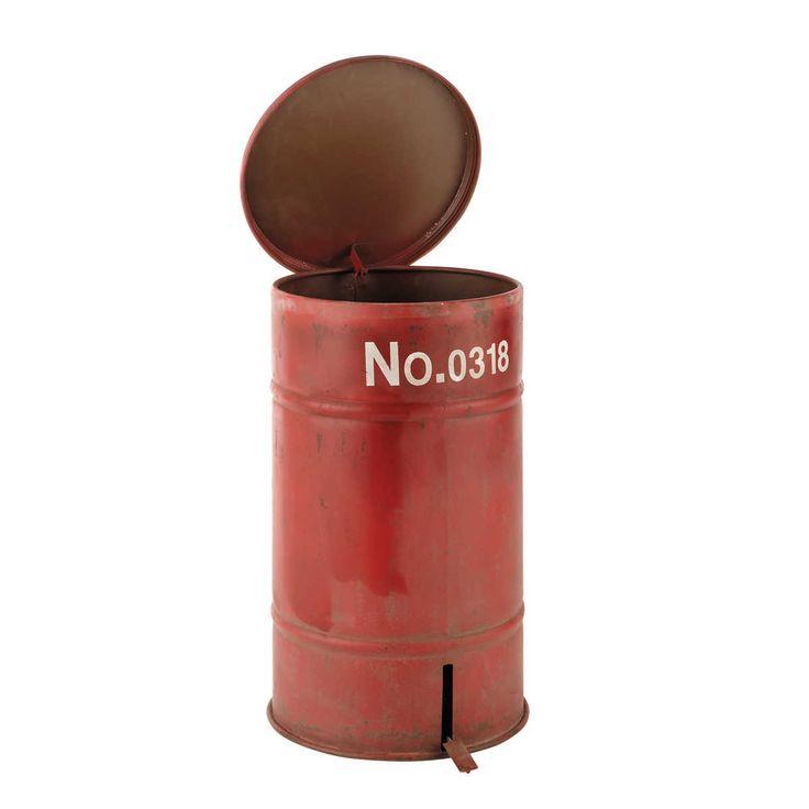 Awesome Poubelle Maison Du Monde #11: Poubelle En Métal Rouge H 57 Cm CARGO | Maisons Du Monde