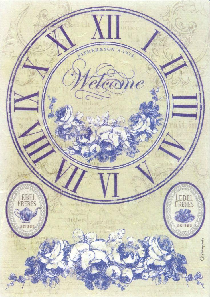 Ricepaper/ Decoupage paper, Scrapbooking Sheets /Craft Paper British clock | eBay