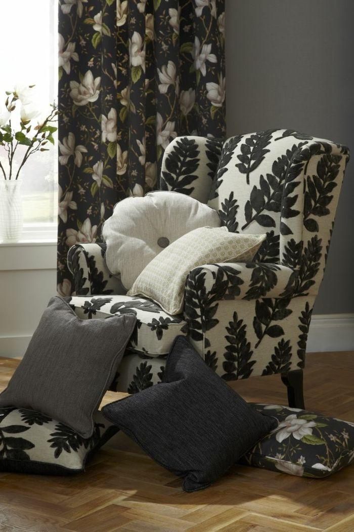 M s de 25 ideas incre bles sobre cortina de flores en for Cortinas negras decoracion