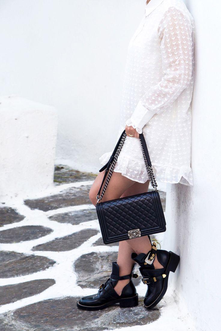 Chanel Boy Bag & Balenciaga combat boots - Stella Asteria