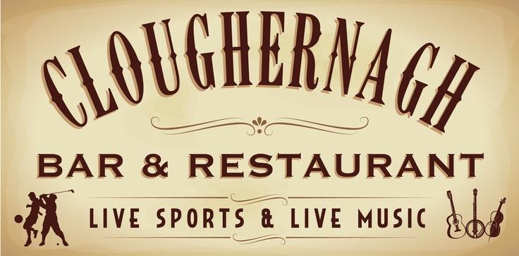 Signage for Cloughernagh Bar & Restaurant, Dunmore East