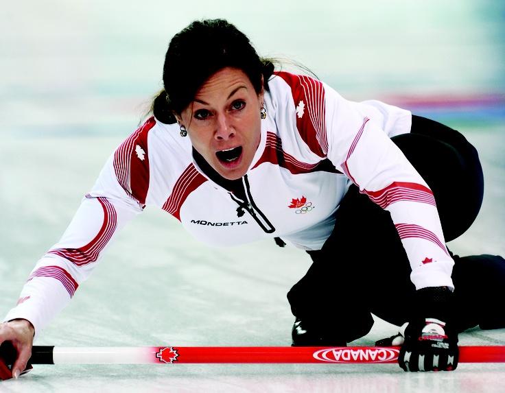 Cheryl Bernard, representing Canada, at the 2012 Winter Olympics.