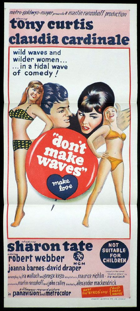 tony curtis movie posters | DON'T MAKE WAVES Daybill Movie poster Sharon Tate Tony Curtis Claudia ...
