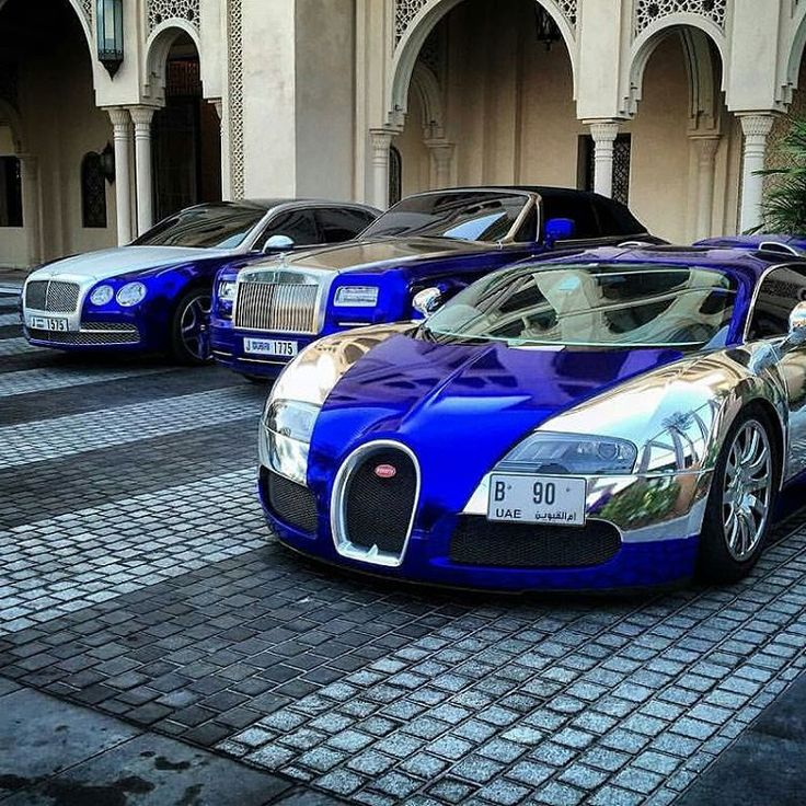 Supercar Duo Luxurycorp Rollsroyce: Chrome Army: Bugatti, Rolls-Royce, Bentley Flying Spur