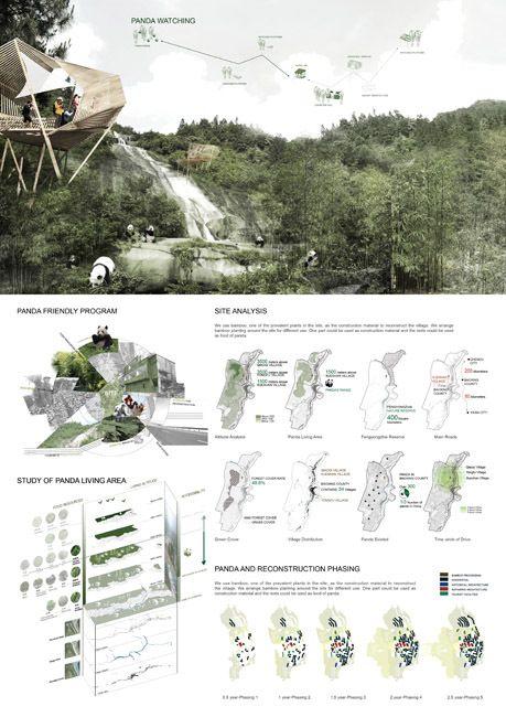 Exploring Post Earthquake Reconstruction: 2013 AIM Competition Awards Announced 윗부분. 산의 스카이라인이 자연스럽기 분리시켜서 좋다