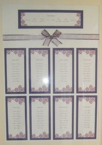 A2 Lilac Wedding Table Plan