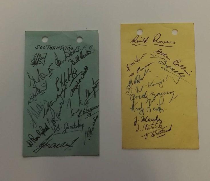 1948/9 autograph cards - Southampton FC and Raith Rovers!