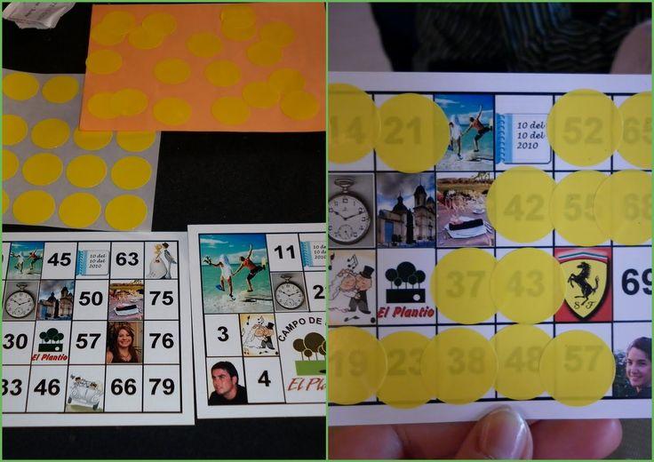 Invitaciones únicas: cartones de bingo.