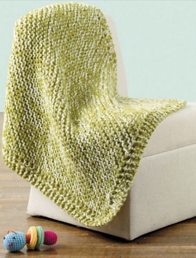 Knitting Pattern Swaddling Blanket : Swaddle baby in this knitted tweedle dee baby blanket that ...