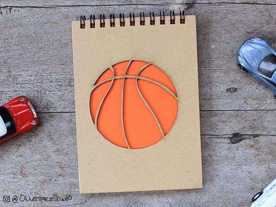 Basketball Notebook  Sport Spiral Notepad  Ball Hardcover
