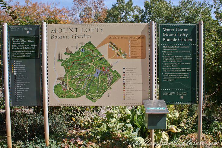 Mount Lofty Botanic Garden Map, Adelaide, South Australia