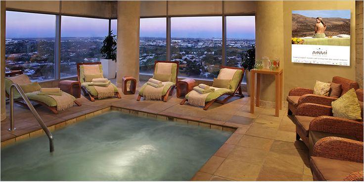 Infinity pool at Radisson Blu, Sandton Spa