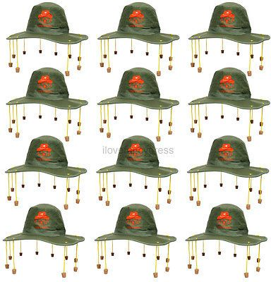 12 x australian cork hat australia day party fancy #dress #rugby #cricket support,  View more on the LINK: http://www.zeppy.io/product/gb/2/301840612495/