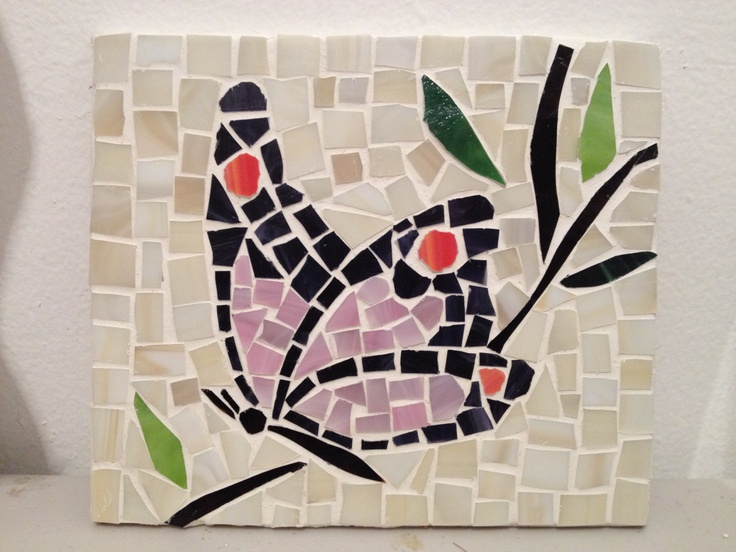 """6""""x7"""" Butterfly mosaic by Omayra"""
