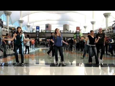 Denver International Airport flash mob...  FUN!!!!