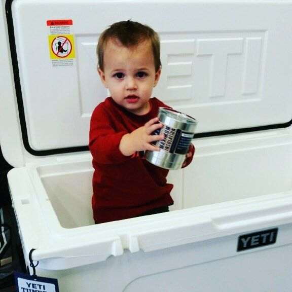 Can't keep his off them yeti products. Get all your yeti products gear and more at ruggedXL.com or if your in the area stop by our shop at 510 Beaver Street North Wales Pa 19454. Shop local support local. #yeti #ruggedxl #shoplocal #yetitumbler #yetirambler #yeticoolers #yetilowball #hunting #fishing #onestopshop