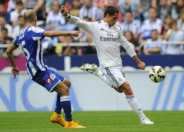 Chicharito opens Real account with brace -Javier Hernández opened his Real Madrid account with two goals against Deportivo. The Mexican's first came with a fine strike into the top corner and the striker's second from outside the area as 'Los Blancos' ran riot at the Rizaor.    MARCA.com (English version)