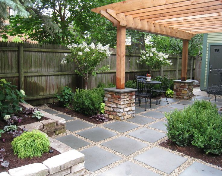 GardenScape   BackYard Features / Large Bluestone Pavers Set In Gravel Can  Be Used As A Walkway Or For Additional Seating Areas Under The Partial  Shade Of A ...