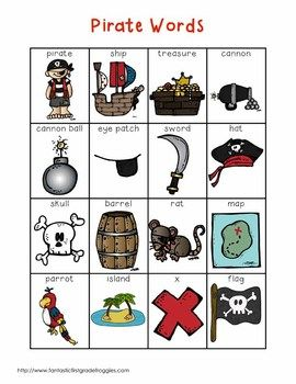 Writing Center Tools- Pirate  Words
