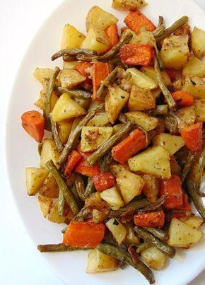 verduras al horno con queso parmesano   verduras crujientes con parmesano