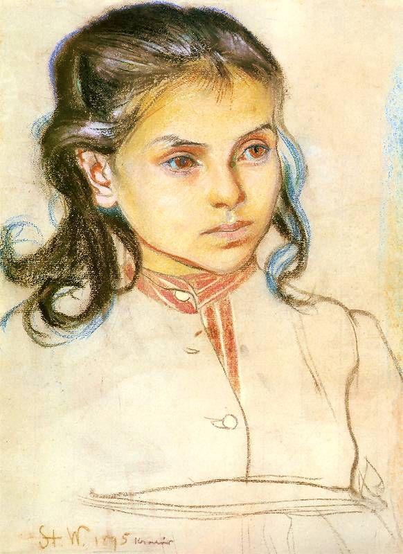 Stanisław Wyspiański, A girl, 1895