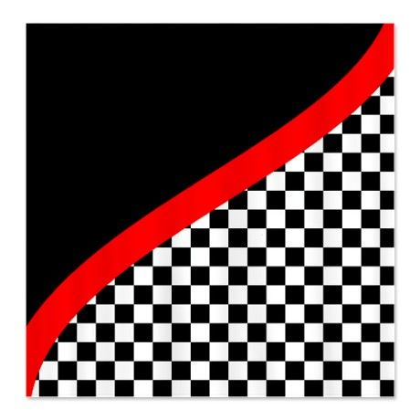 Race shower curtain   ... Bathroom Accessories & Décor > Racing Checkered Design Shower Curtain