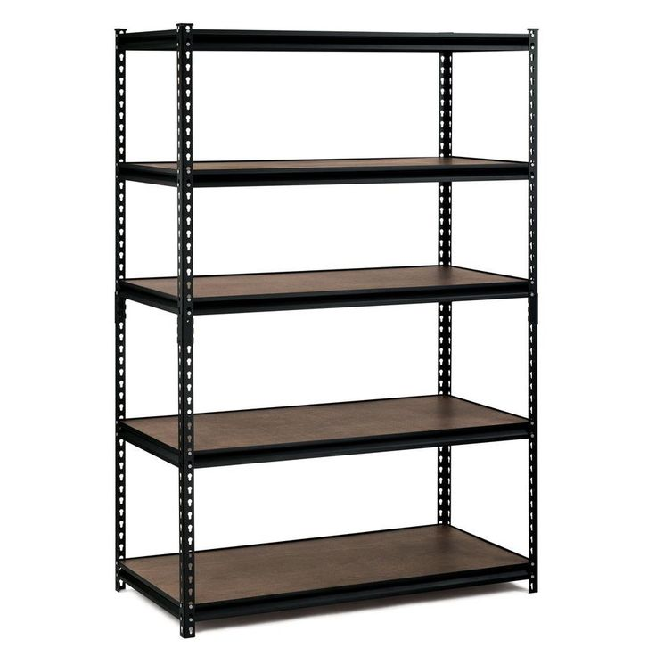 Edsal 48 in. W x 72 in. H x 24 in. D Steel Commercial Shelving Unit-UR-245WGB - The Home Depot