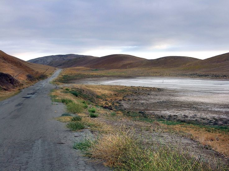 Soda Lake road. Kern County, California Road runs along the San Andreas Fault in the Carrizo Plain, just north of rt. 166. note the sag pond and scarps that are visible along the San Andreas Fault rift zone.