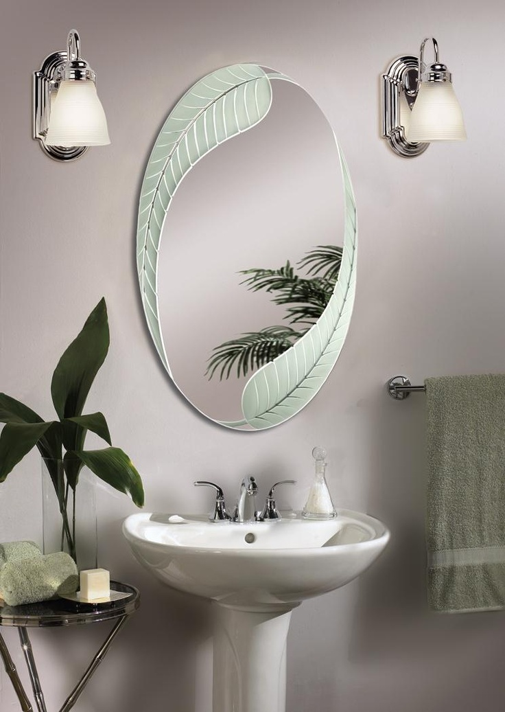 34 best bathroom mirrors images on pinterest bathroom for Decorative wall mirrors for bathrooms