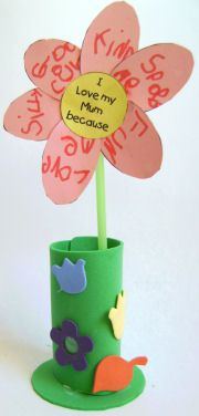 I Love My Mum Flower Craft- Do this for Gma