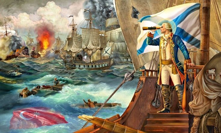 Admiral Fiódor Fiódorovich Ushakov's victory over the Ottoman navy
