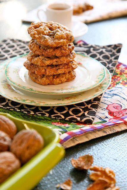 Oatmeal Walnut Cocoa Nib Cookies | Sweet Treats | Pinterest