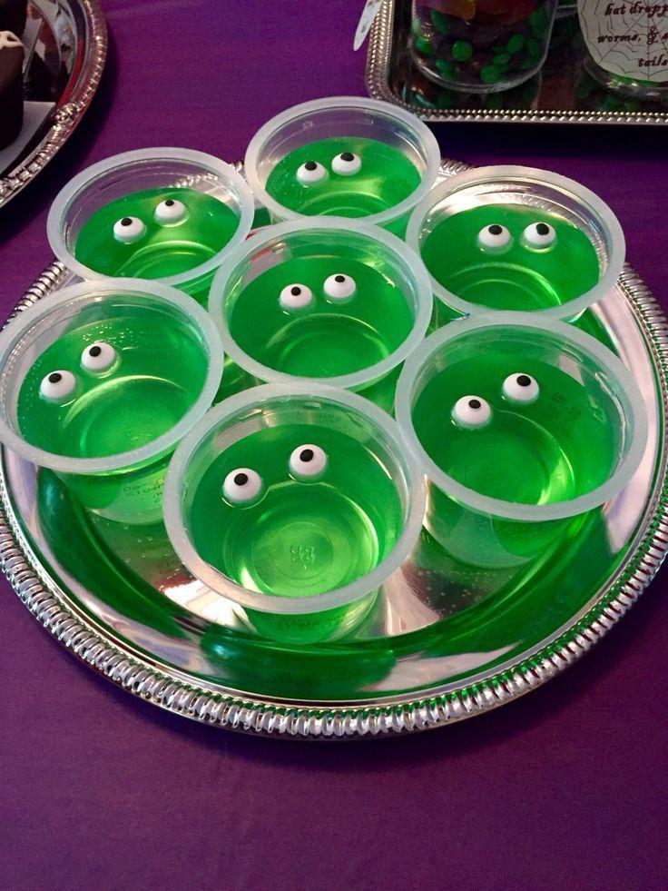 Green Jelly Birthday Cake