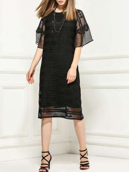Pierced Silk-blend Midi Dress