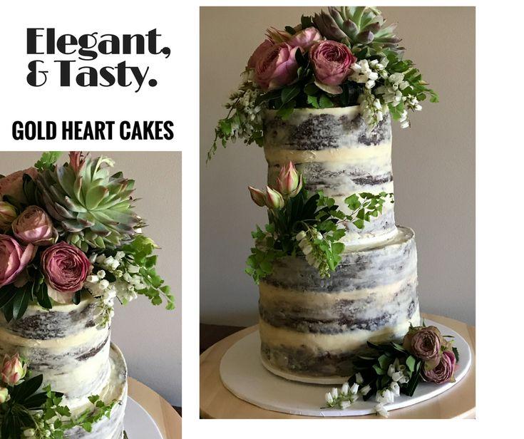 Two Tier Naked Chocolate mudcake  http://goldheartcakes.website/weddings/2018/2/5/two-tier-naked-chocolate-mudcake