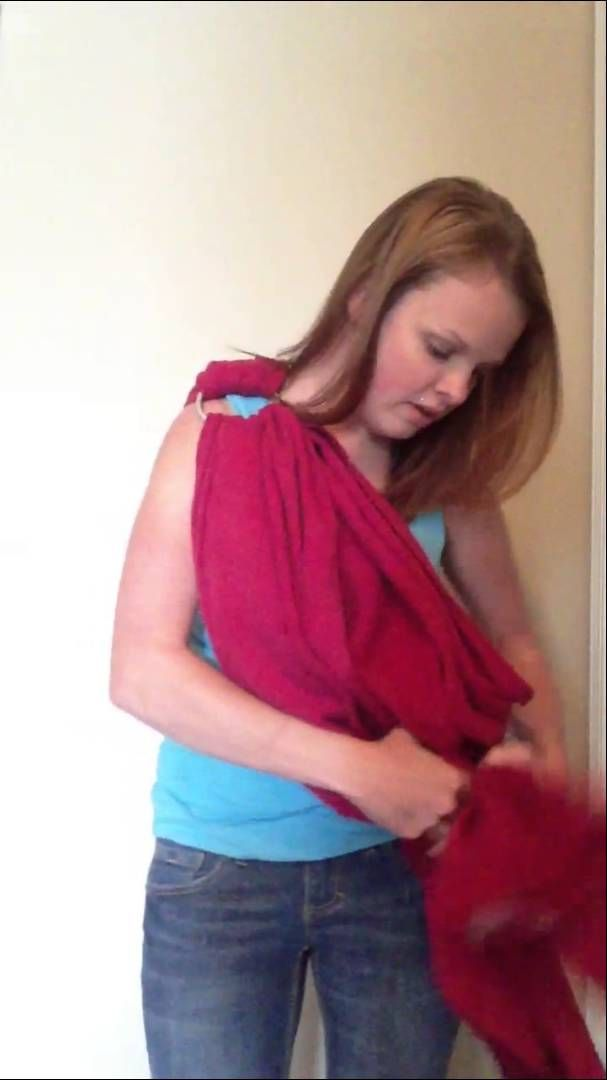 how to put on a baby sling wrap