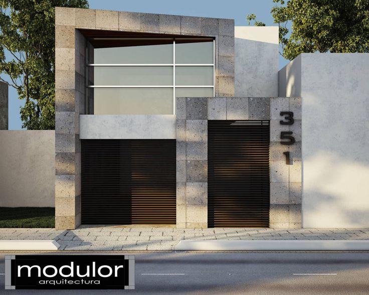 Fachada Pina 351 : Casas modernas de Modulor Arquitectura