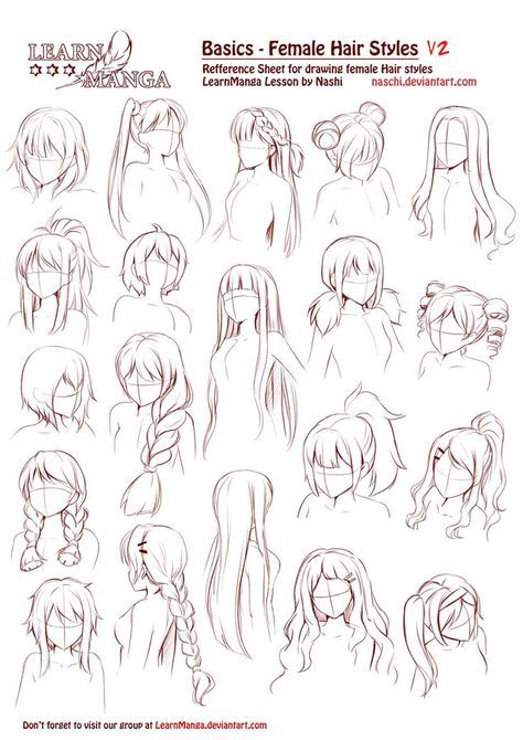 Drawing Anime Hairstyles Girls 37 Ideas