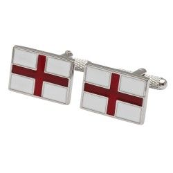 St George's Cross Flag Cufflinks  - from Cufflinkman.co.uk
