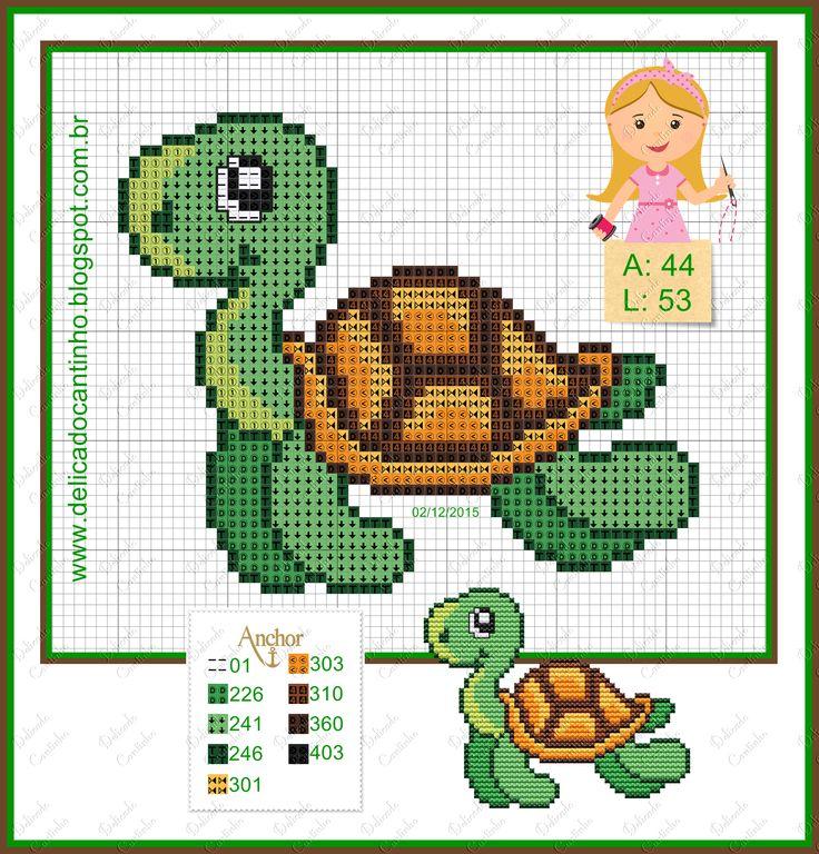 Turtle pattern by Delicado Cantinho  - http://delicadocantinho.blogspot.com.br/2015/12/toalhinha-fundo-do-mar.html