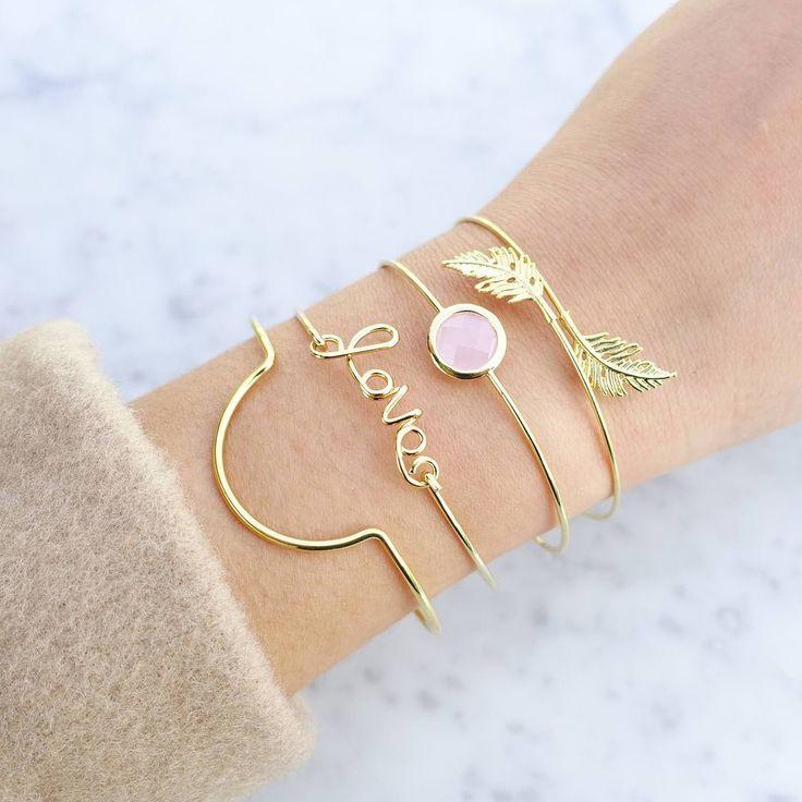Sunset Gold Jonc Bracelet - Majolie - 1