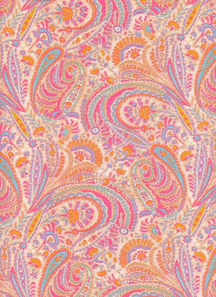 Pink Paisley Vintage Liberty Fabric, 100% Cotton Tana Lawn, available from The Strawberry Thief