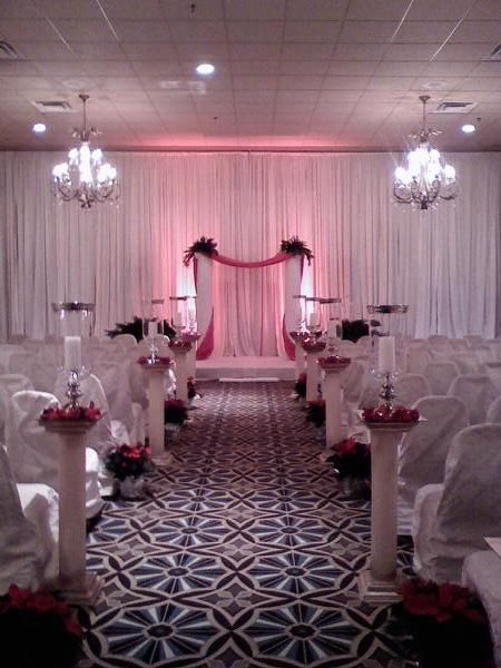 An elegant  and romantic holiday ceremony setting at The Waterfall.